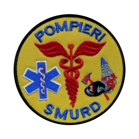 Emblema SMURD brodata - Insemne oficiale/profesionale si grade pentru personalul SMURD si AMBULANTA, grade medici, paramedici, SMURD