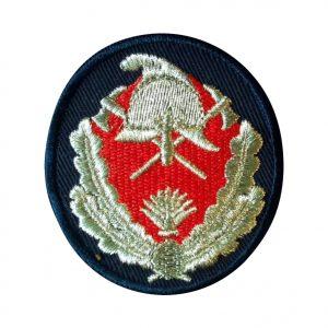 Emblema Coifura Pompieri IGSU Subofiteri. Grade Militare, Embleme, Ecusoane, Nominale si Insemne pentru uniforma de politie, armata, militara, de vanzare. POLITIE, SRI, POMPIERI, MAPN.