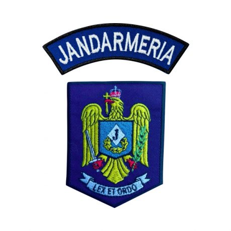 Emblema Jandarmi - Sigla Jandarmi Brodata - Set, de vanzare. Comanda acum sau cere oferta.