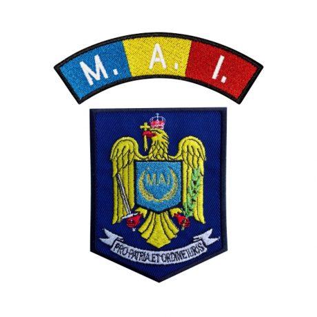 Emblema Politia Romana MAI - Sigla Brodata - Set, de vanzare. Comanda acum sau cere oferta.