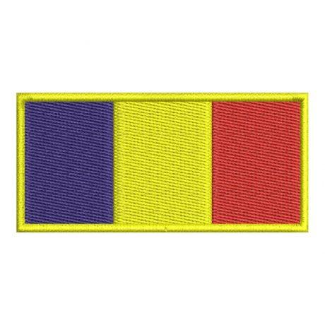 Drapel Romania contur galben 1