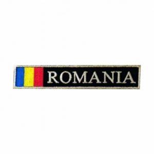 Ecuson Romania cu Drapel, brodat cu fir metalic argintiu Grade Militare Armată Română MAPN de vânzare | Embleme Armată MAPN | Petlițe | Ecusoane | Nominale și alte însemne distinctive pentru uniforma de Armată MAPN Combat/Ripstop. *Conforme cu legislația în vigoare.