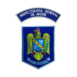 Emblema IGAV - Institutul General de Aviatie - Sigla IGAV brodata
