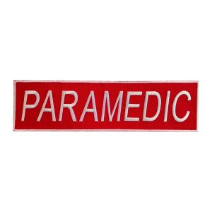 Emblema PARAMEDIC pentru spate - Insemne oficiale/profesionale si grade pentru personalul SMURD si AMBULANTA, grade medici, paramedici, SMURD