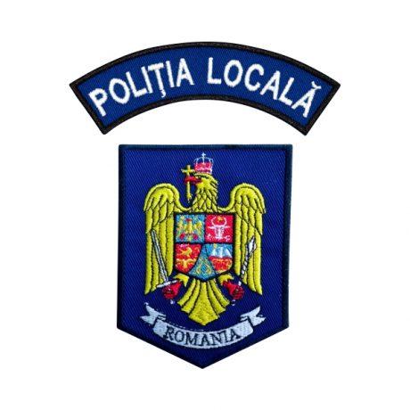 Emblema Politia Locala - Sigla Brodata - Set, de vanzare. Comanda acum sau cere oferta.