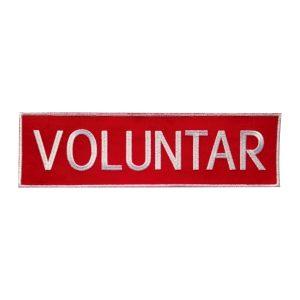 Emblema VOLUNTAR SMURD spate - Insemne oficiale/profesionale si grade pentru personalul SMURD si AMBULANTA, grade medici, paramedici, SMURD