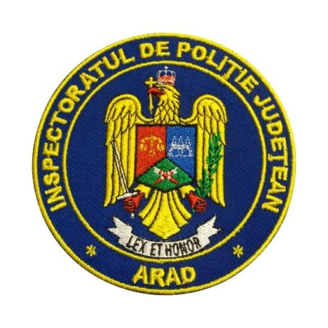Emblema IPJ Arad - Insemne oficiale/profesionale si grade pentru Politia Romana IGPR. Lex et honor! Comanda acum!