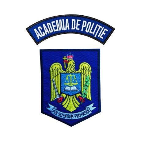 Emblema Academia de Politie - Sigla Brodata - Set