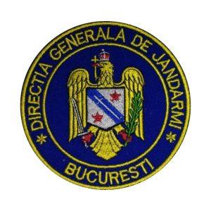 Emblema Directia Generala de Jandarmi Bucuresti - Sigla Brodata, de vanzare. Cere oferta sau comanda acum.