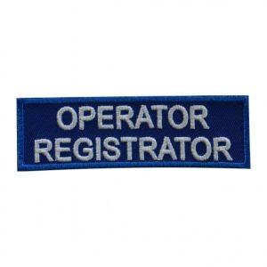 Ecuson Ambulanta-OPERATOR REGISTRATOR-piept - Grade Militare SMURD Ambulanță de vânzare | EmblemeSMURD Ambulanță | Nominale și alte însemne distinctive pentru uniforma SMURD Ambulanță. *Conforme cu legislația în vigoare.