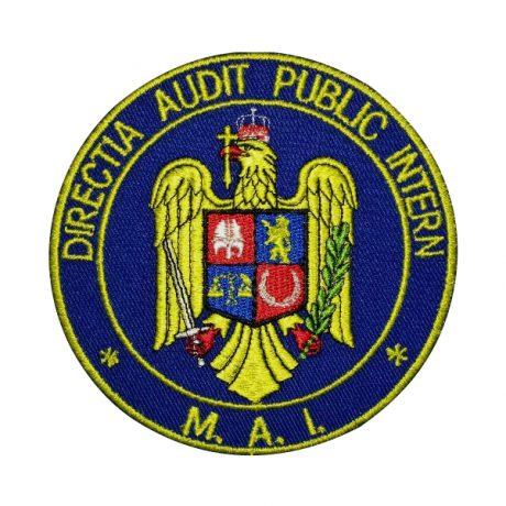 Emblema DAPI - Sigla Directia Audit Public Intern, de vanzare. Grade Militare, Embleme, Ecusoane, Nominale si Insemne pentru uniforma de politie, armata, militara, de vanzare. POLITIE, SRI, POMPIERI, MAPN.