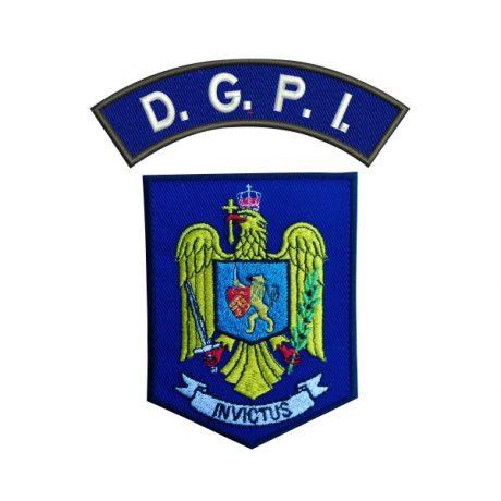 Emblema DGPI - Sigla Brodata - Set - Sigla Brodata Direcția Generală de Informații și Protecție Internă, de vanzare. Comanda acum sau cere oferta.