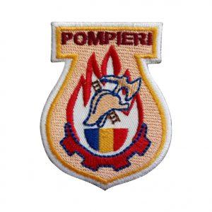 Emblema Pompierii Militari - Sigla Brodata, de vanzare.