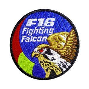 Emblema Forțele Aeriene Române - F16 Fighting Falcon - Sigla Brodată Grade Militare Aviație Militară | Aviație Civilă | IGAV | de vânzare | Embleme Aviație | Petlițe | Ecusoane | Nominale și alte însemne distinctive pentru uniforma Aviație. *Conforme cu legislația în vigoare.
