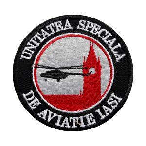 Emblema Unitatea Specială de Aviație Iași - Sigla Brodată Grade Militare Aviație Militară | Aviație Civilă | IGAV | de vânzare | Embleme Aviație | Petlițe | Ecusoane | Nominale și alte însemne distinctive pentru uniforma Aviație. *Conforme cu legislația în vigoare.