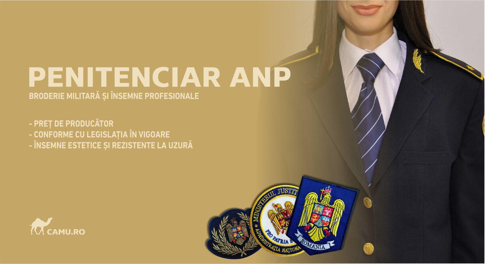 Grade Militare Penitenciare ANP de vânzare | Embleme Penitenciare ANP | Nominale și alte însemne distinctive pentru uniforma Penitenciare ANP. *Conforme cu legislația în vigoare.