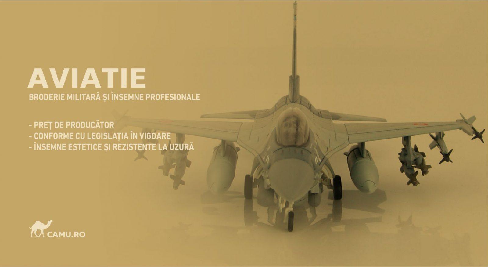 Grade Militare Aviație Militară | Aviație Civilă | IGAV | de vânzare | Embleme Aviație | Petlițe | Ecusoane | Nominale și alte însemne distinctive pentru uniforma Aviație. *Conforme cu legislația în vigoare.
