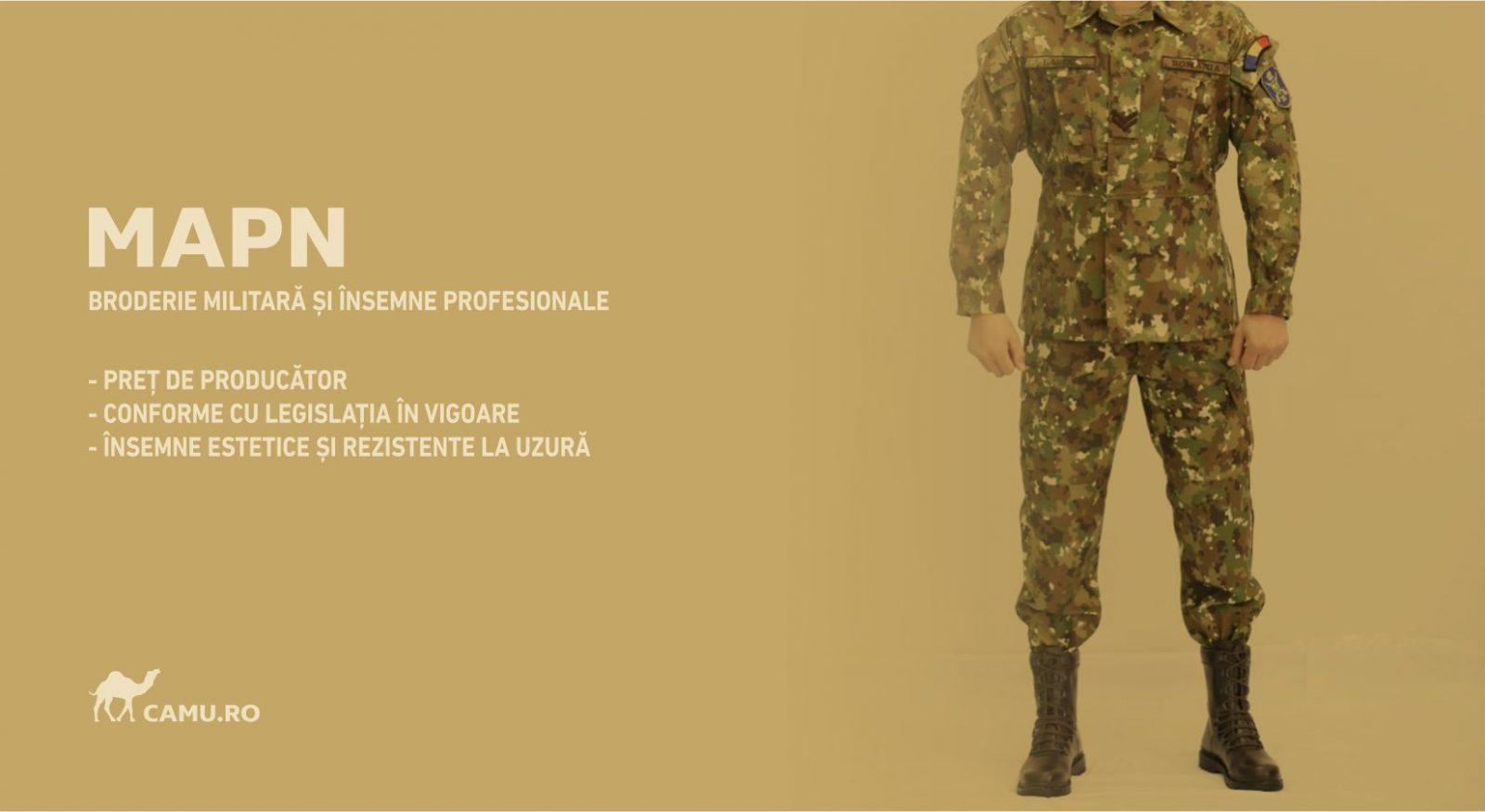 Grade Militare Armată Română MAPN de vânzare | Embleme Armată MAPN | Petlițe | Ecusoane | Nominale și alte însemne distinctive pentru uniforma de Armată MAPN Combat/Ripstop. *Conforme cu legislația în vigoare.