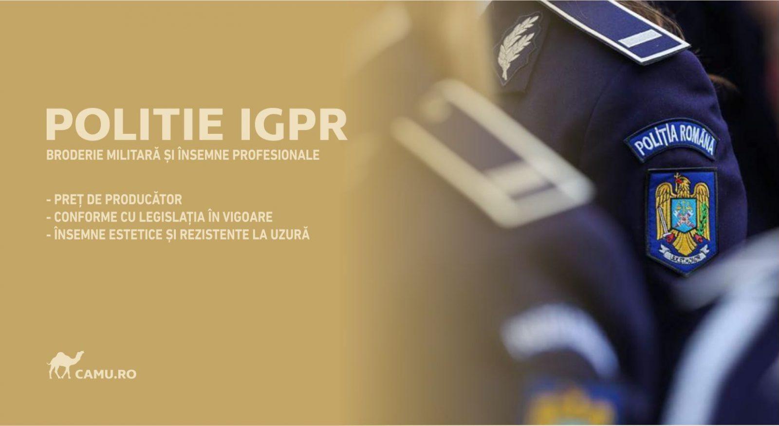 Grade Militare Poliție de vânzare | Emblema Poliție | Petlite Poliție și alte însemne distinctive pentru uniforma Poliție. *Conforme cu legislația în vigoare.