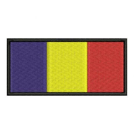 Drapel Romania Contur Negru