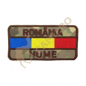 ECUSON ROMANIA + DRAPEL + NUME