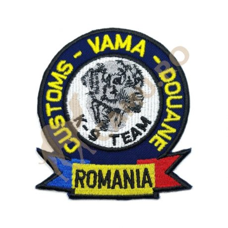 EMBLEMA ECHIPA CANINA VAMA – K9 TEAM – BLEUMARIN